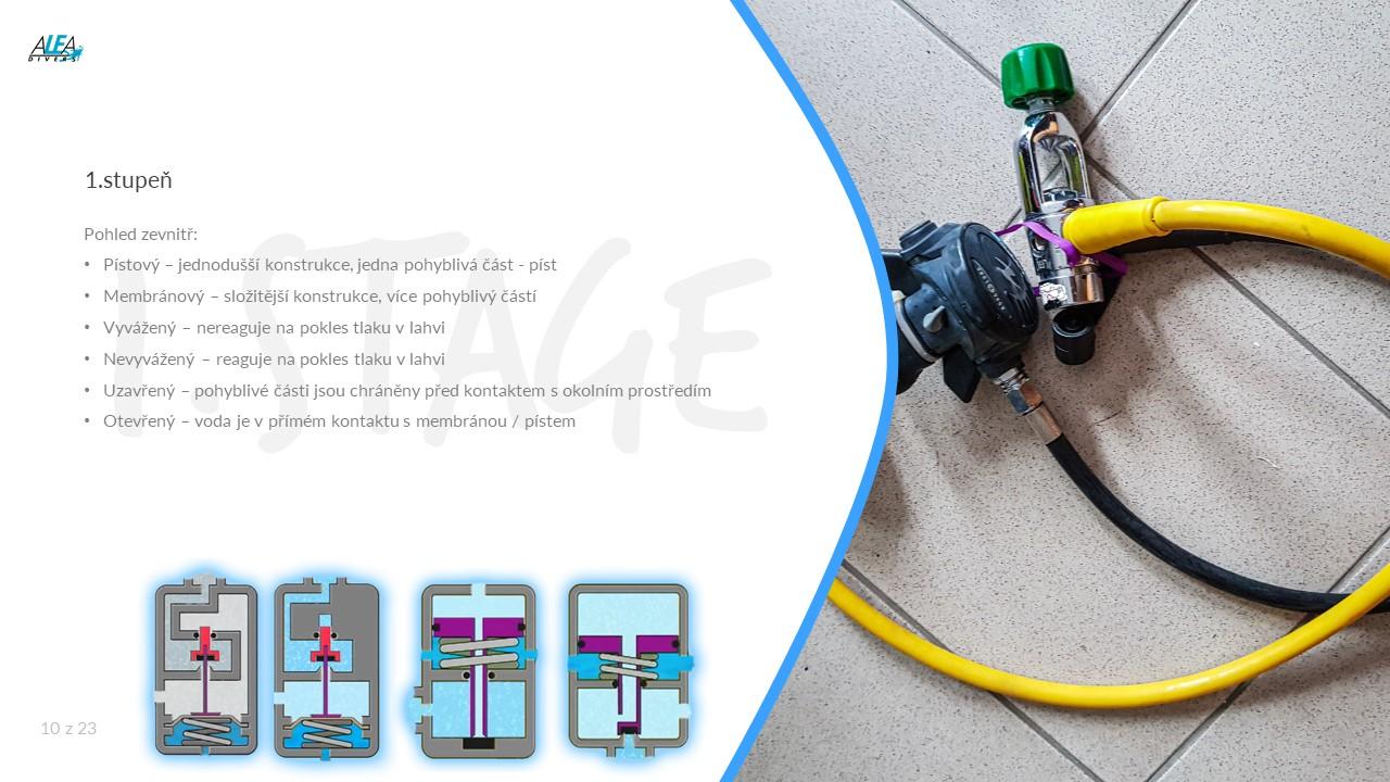 Pořízení vlastní výstroje na potápění - potápěčské automatiky