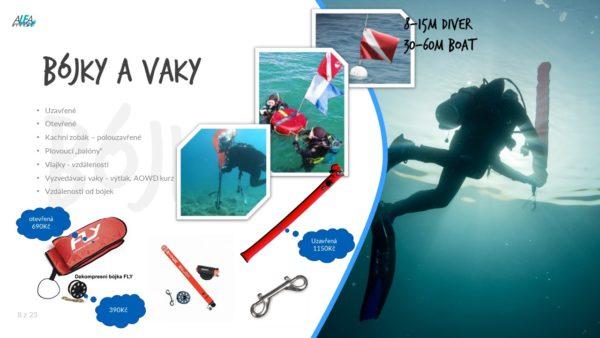 Pořízení vlastní výstroje na potápění - doplnky
