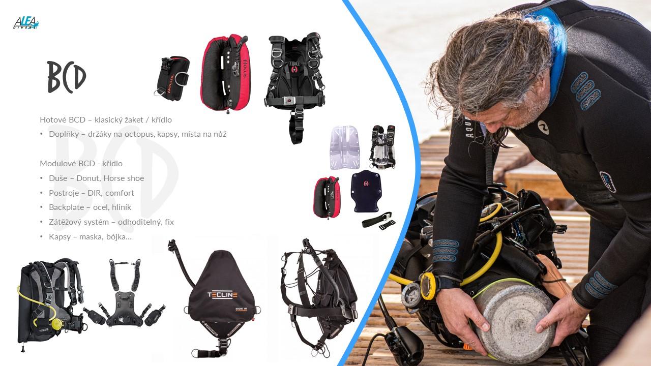 Pořízení vlastní výstroje na potápění - BCD a láhve