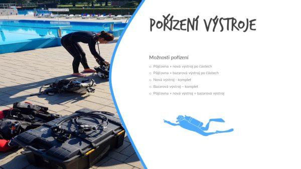 Pořízení vlastní výstroje na potápění - ABC - maska, šnorchl, ploutve