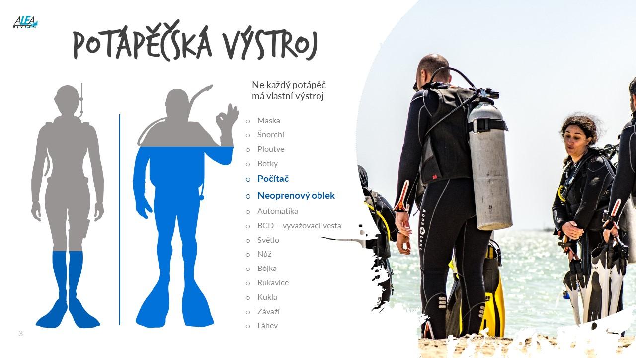 Pořízení vlastní výstroje na potápění - potápěčské oblkey a potápěčský počítač